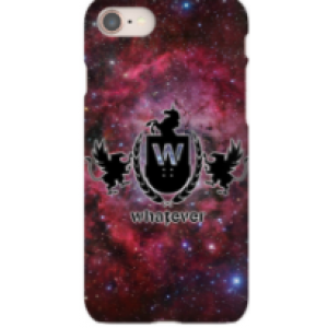 iPhone 8 Plus Whatever Skateboards Red Galaxy Phone Case