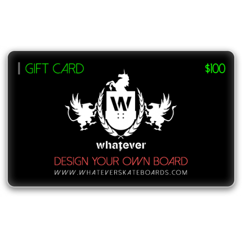 Gifts for Skaters - Whatever Gift Cards
