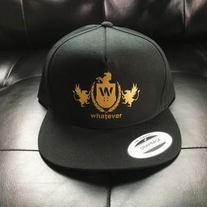 Whatever Skateboards Hat - Gold Logo on Black Snapback