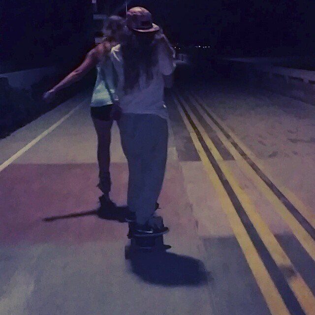 Looks like ~#whateverskateboards skater @alessandrakoenig found a way to cruise the entire boardwalk on our Gnar 35
