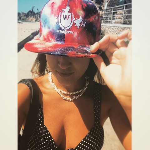 homie @caroart90 rocking the new whatever space snapback in pb makin it look good!  should we do another run of these?? #snapback #pb #pacificbeach #space #skatelife #skateboarding #skateboard #surf #surfing #surflife #surfer #skater #surfergirl #limitededition #babe #apparel #skaterbabe #beachlife #newhat #spacehat #custom #whatever #whateverskateboards