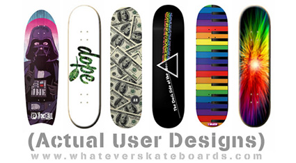Ever seen an awesome custom skateboard or custom longboard with a really  lame graphic? Not this time!