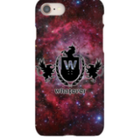iPhone 8 Whatever Skateboards Red Galaxy Phone Case
