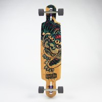Riviera Kung Fu Kitty Drop Thru Longboard (9.5 x 41.5)