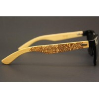 Wood Sunglasses - Skull