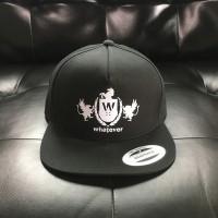 Whatever Skateboards Hat - White Logo on Black Snapback