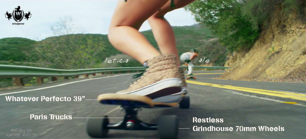 Whatever Skateboards Riders Alessandra and Leticia, Tearing Up Malibu on Custom Longboards