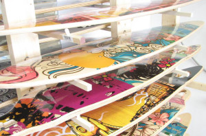 Custom Printed Longboards in the Rack