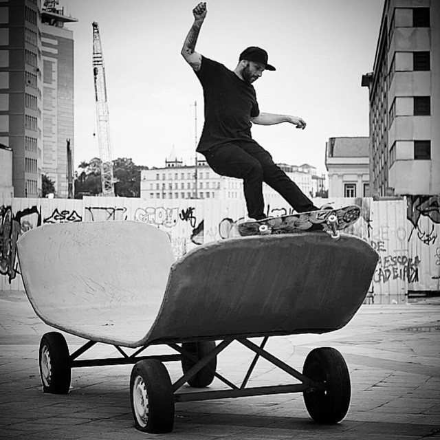 What if the ramp... was also a skateboard!?  haha.. nice skate on skate fs feeble action by  @raguebrogerio #skateboard #skateboarding #skate #sk8 #skatelife #skateart #skateramp #skateboardinception #skateordie #sk8ordie #southamerica #skater #skatepic #photo #blackandwhite #skategram #skateeverydamnday #skateeveryday #sk8ord13 #funny #photooftheday #wtf #whatever #whateverskateboards