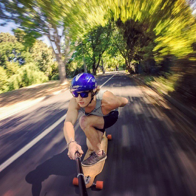 Awesome downhill selfie with dope motion blur by  @waynevn  #longboarder #longboard #longboarding #downhillskateboarding #downhill #downhilllongboarding #selfie #gopro #fun #summer #skateboarding #skateboardingisfun #skateeverydamnday #longboardforlife #speed #motionblur #actionshot #california #riverside #socal #skateordie #sk8ordie #whatever #whateverskateboards