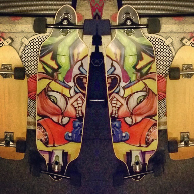 another dope one of a kind custom longboard (fatso 39