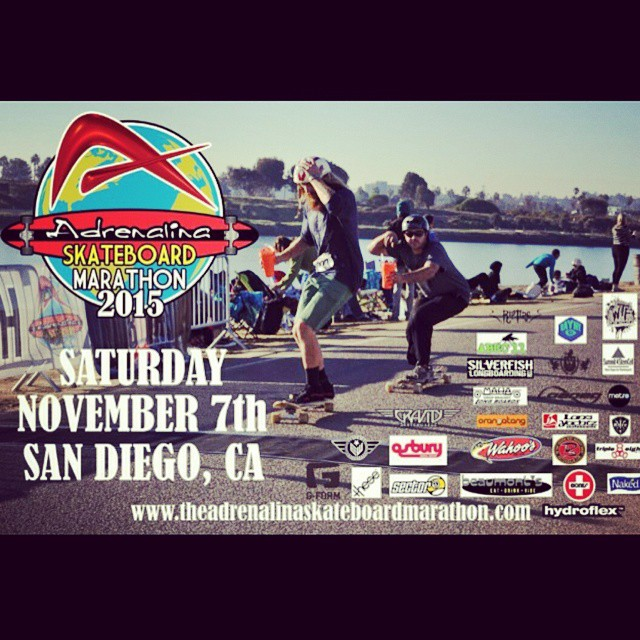 2015 Skateboard Marathon by @adrenalinaskate Saturday November 7th put it on the calendar and get your skate on! #skateboardmarathon #sk8 #longboard #skate #skog #skogging #skatelife #ldp #skateboarding #skateboardingisfun #skateordie #skateboardsandiego #skateboardingsandiego #sandiego #sandiegoskateboarding #fiestaisland #sandiegosk8 #whateverskateboards #whatever