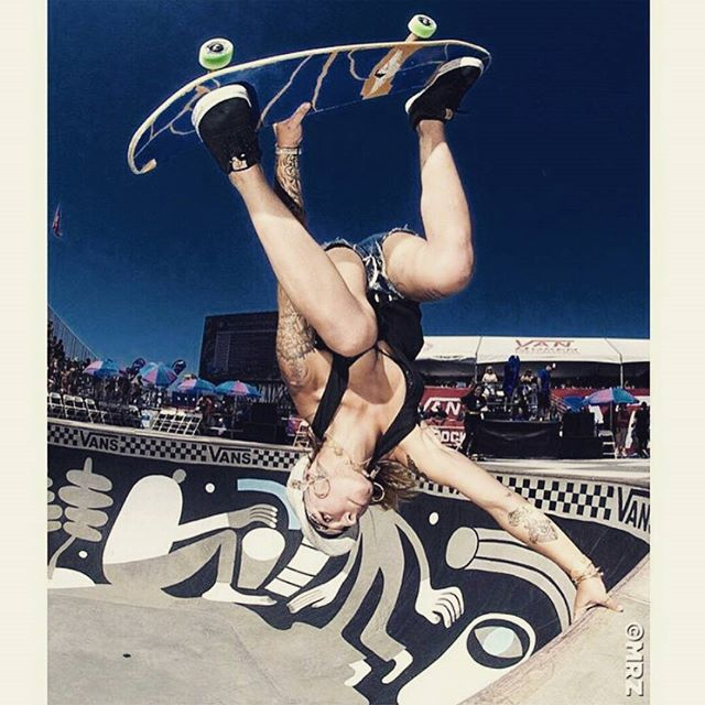 Handplant by @julzlovespoolz -  julz lynn shreds pools!  #handplant photo by  @mrzzz #poolskate #pool #poolparty #poolskating #skateboarding #skateboard #skate #sk8 #skatelife #skateordie #sk8ordie #skatepark #shred #girlsthatshred #girlsthatskate #skatergirl #skateeverydamnday #skatergirls #whatever #whateverskateboards