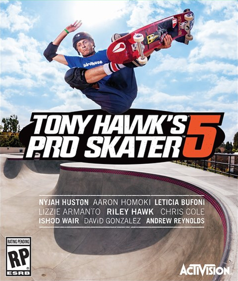 Tony Hawk Pro Skater 5 Box Art