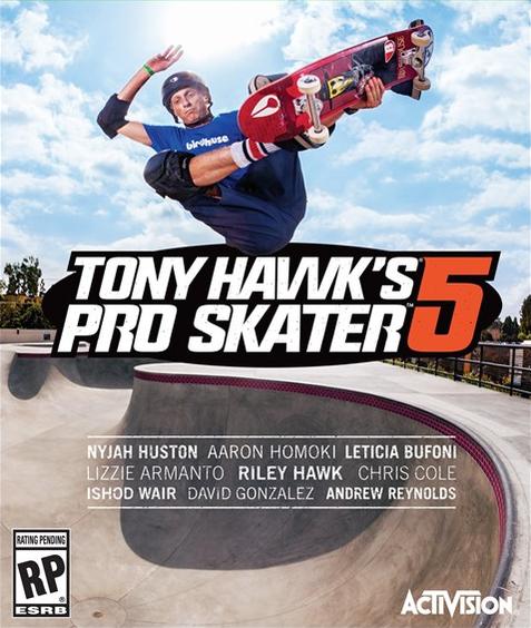 Tony Hawk Pro Skater 5 Box Art