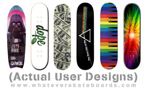 Actual custom skateboards by real people