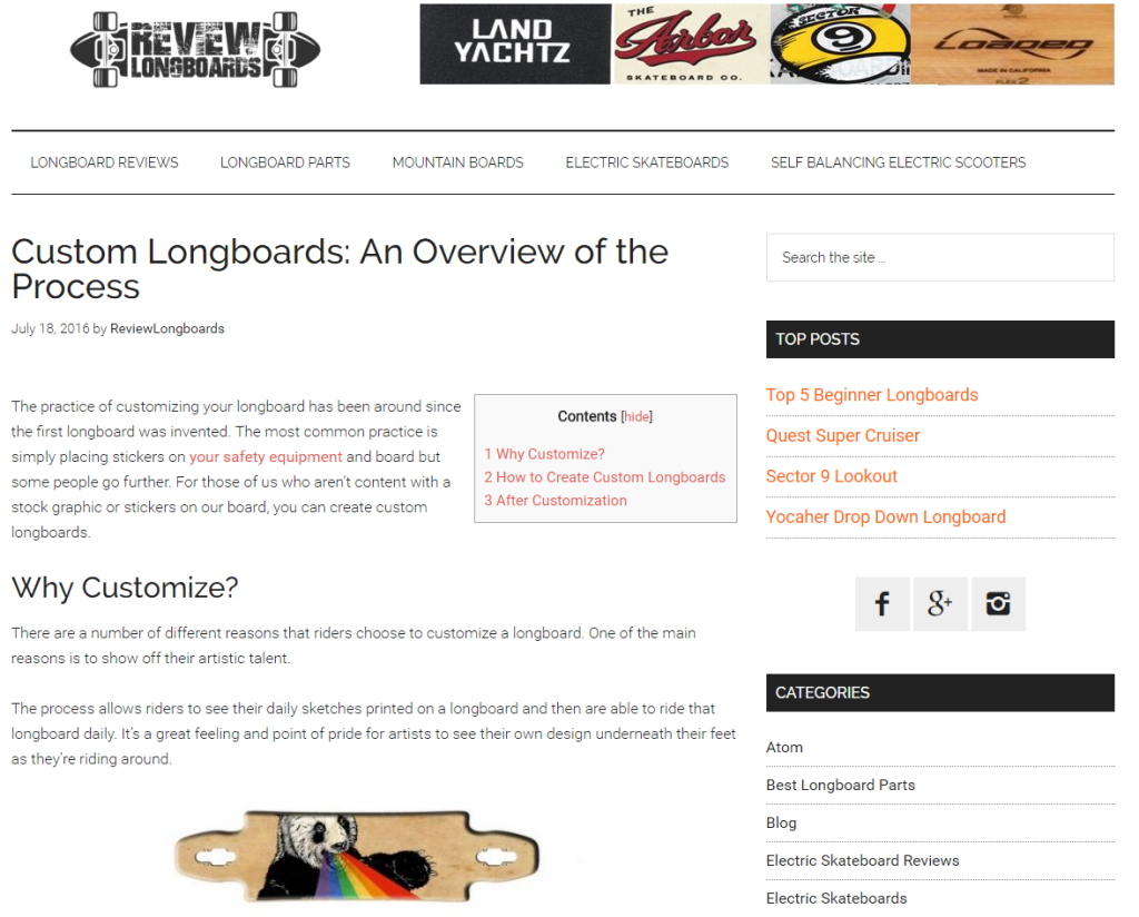 Custom Longboards: An Overview of the Process