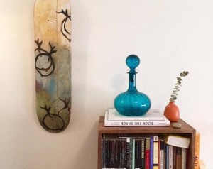 custom skateboard wall art