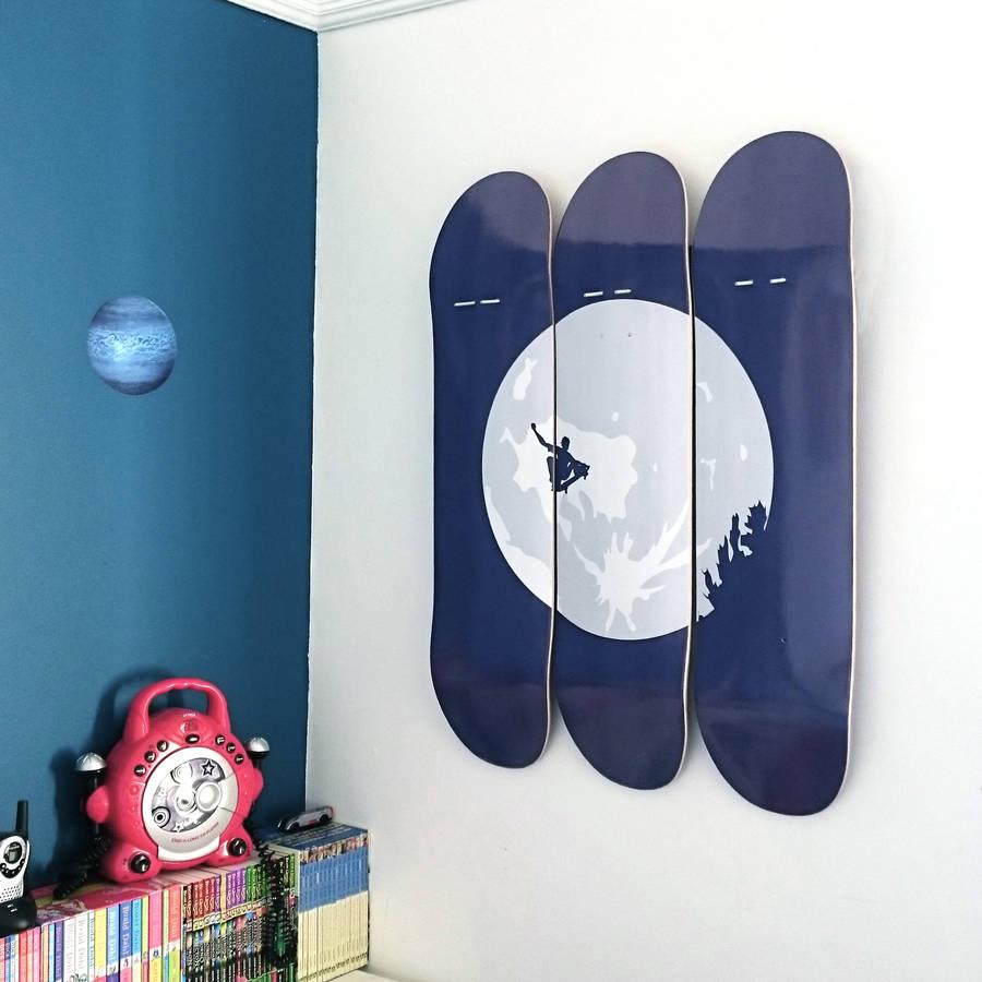Custom skateboards as wall art whatever skateboards